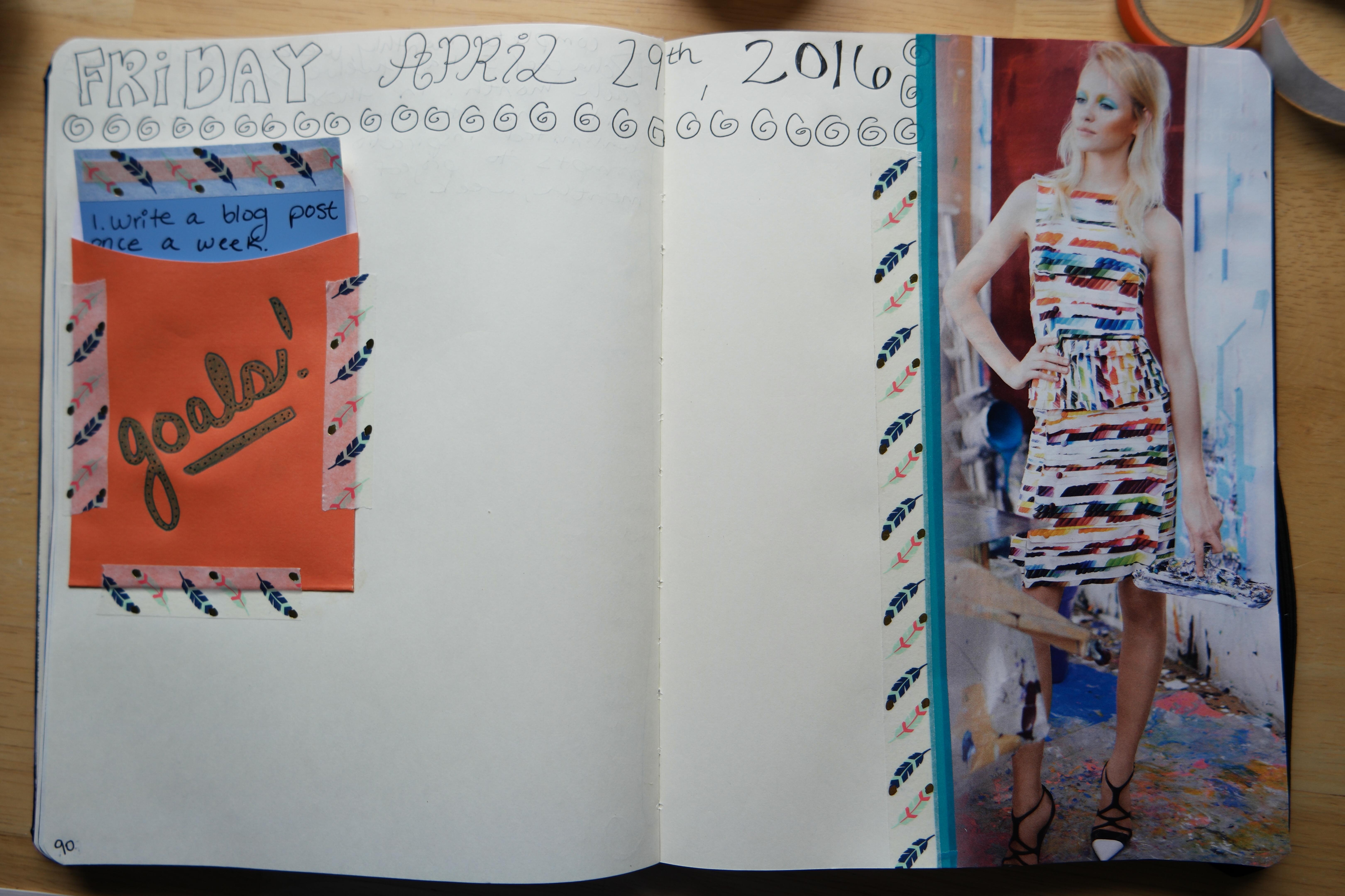 Creative goal-setting in my visual notebook