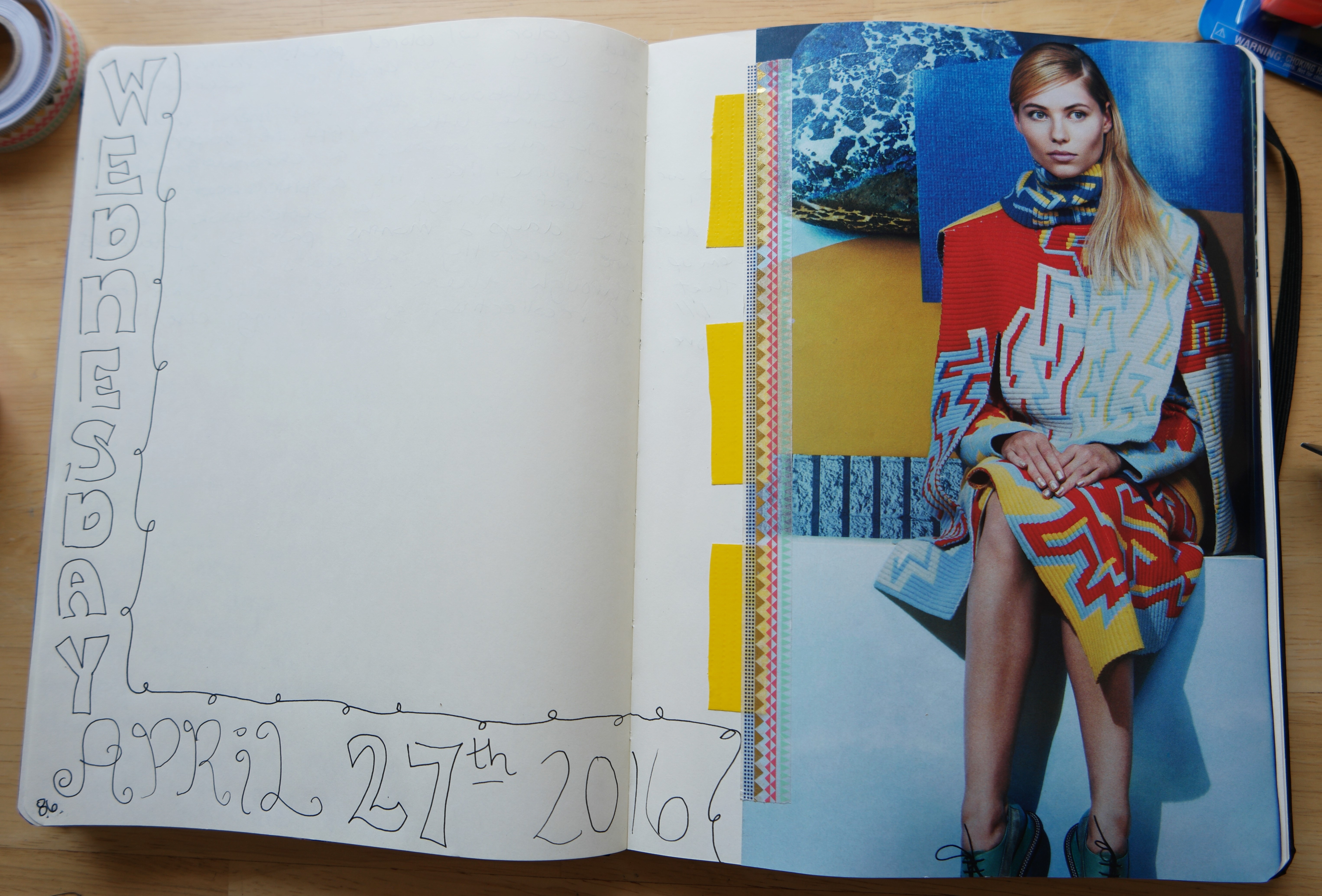 Art journaling in my creative notebook