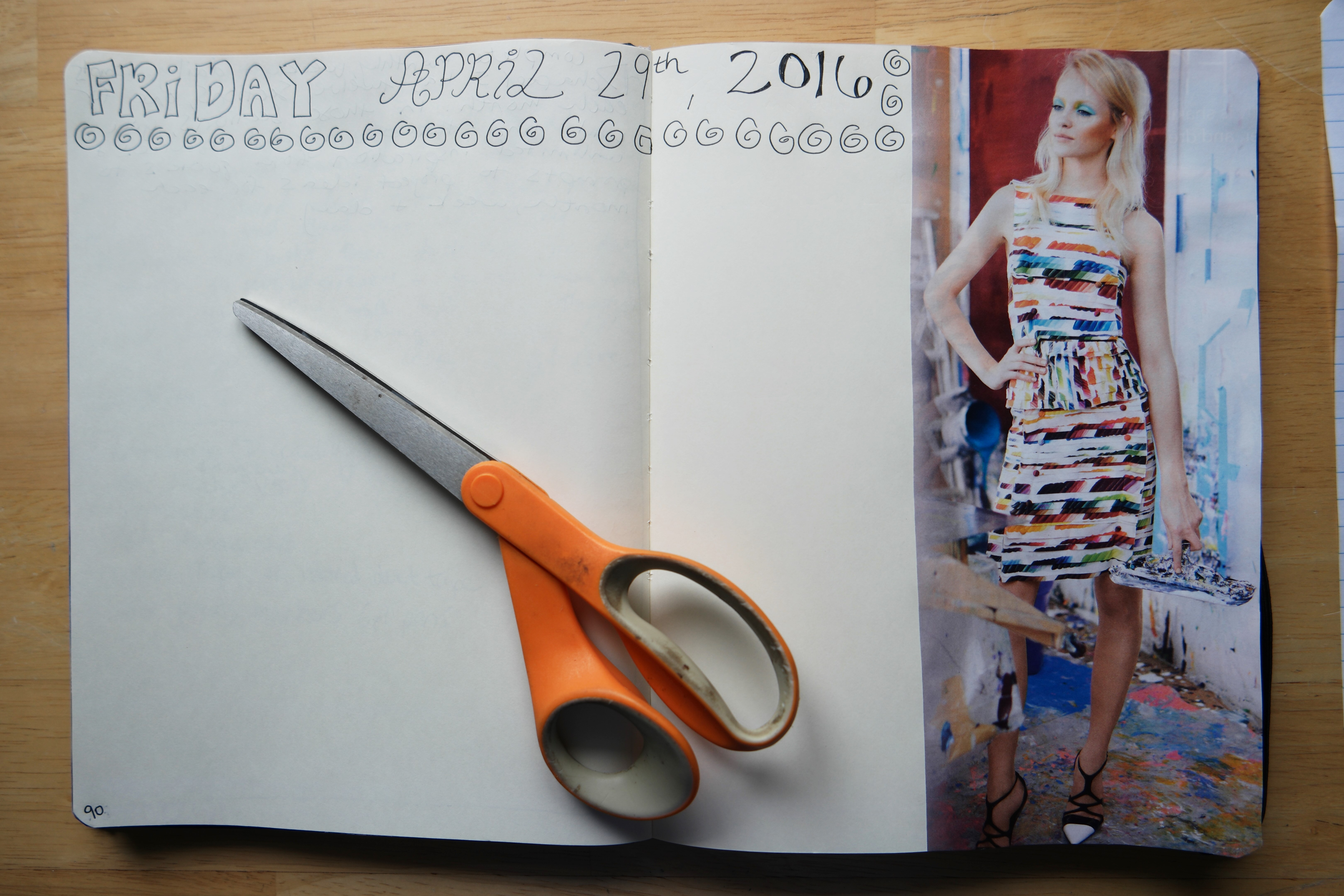 Art journaling in my creative notebook. Collage ephemera.