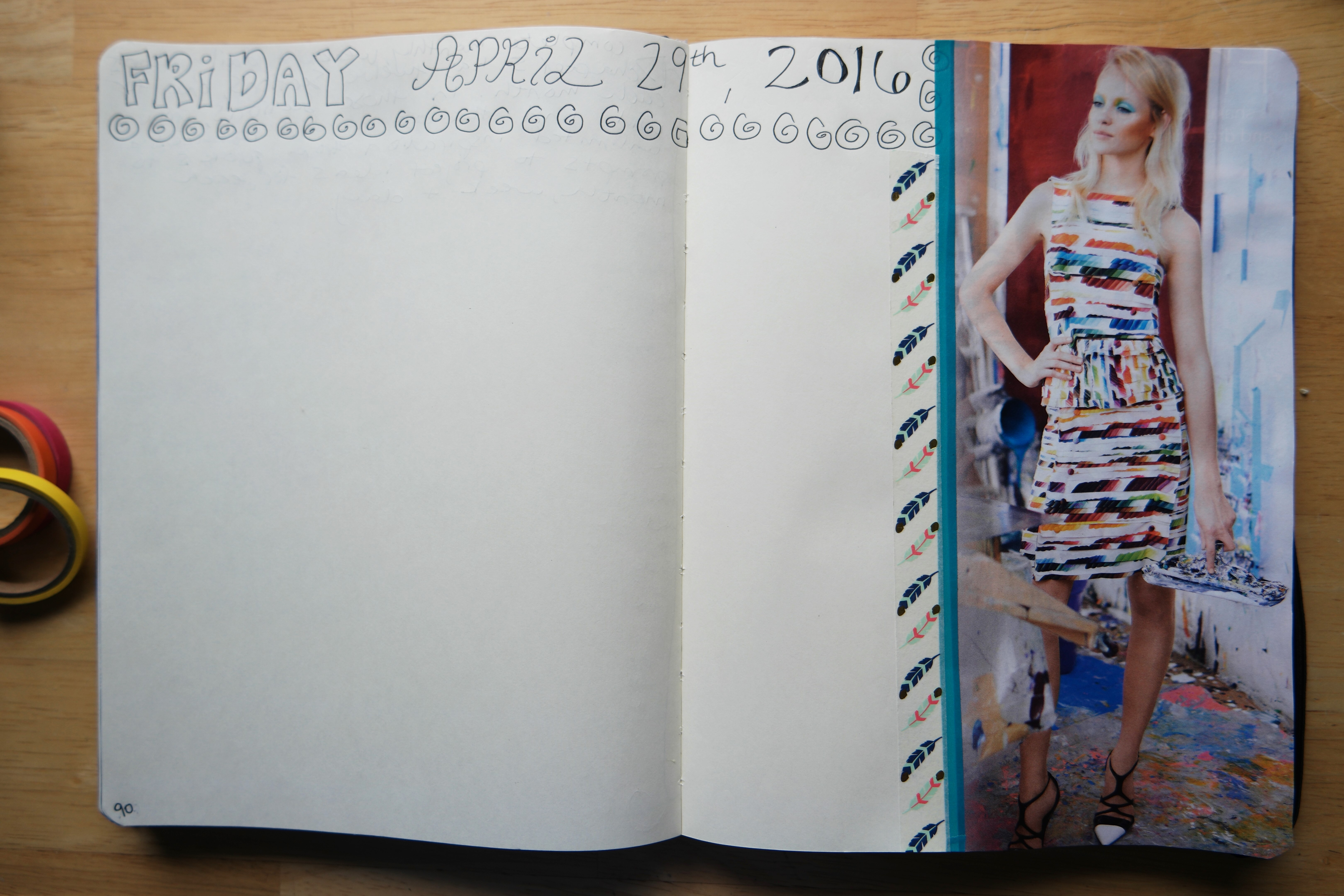 Creative Journaling in my visual notebook.