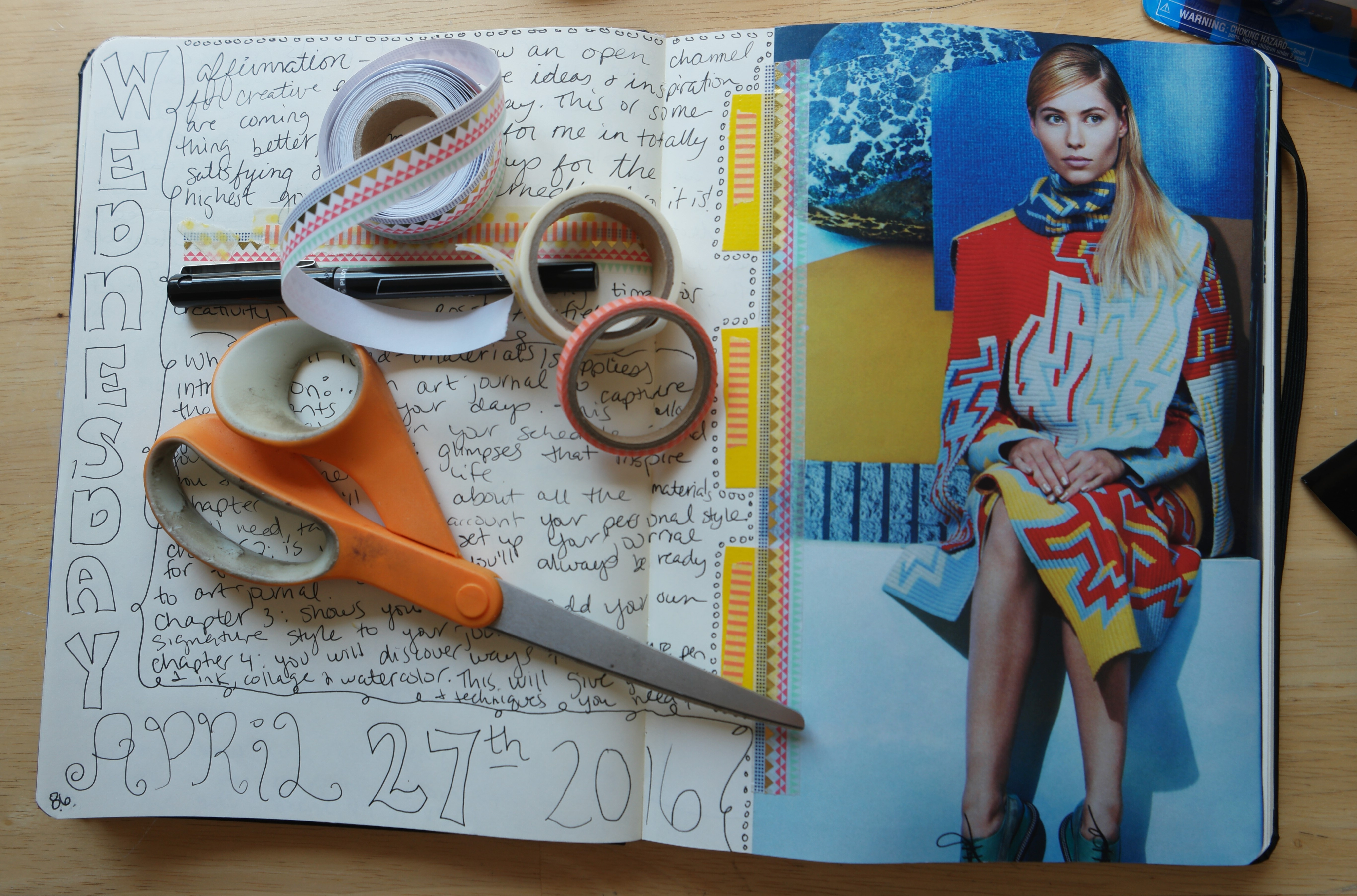 creative journaling in my visual notebook