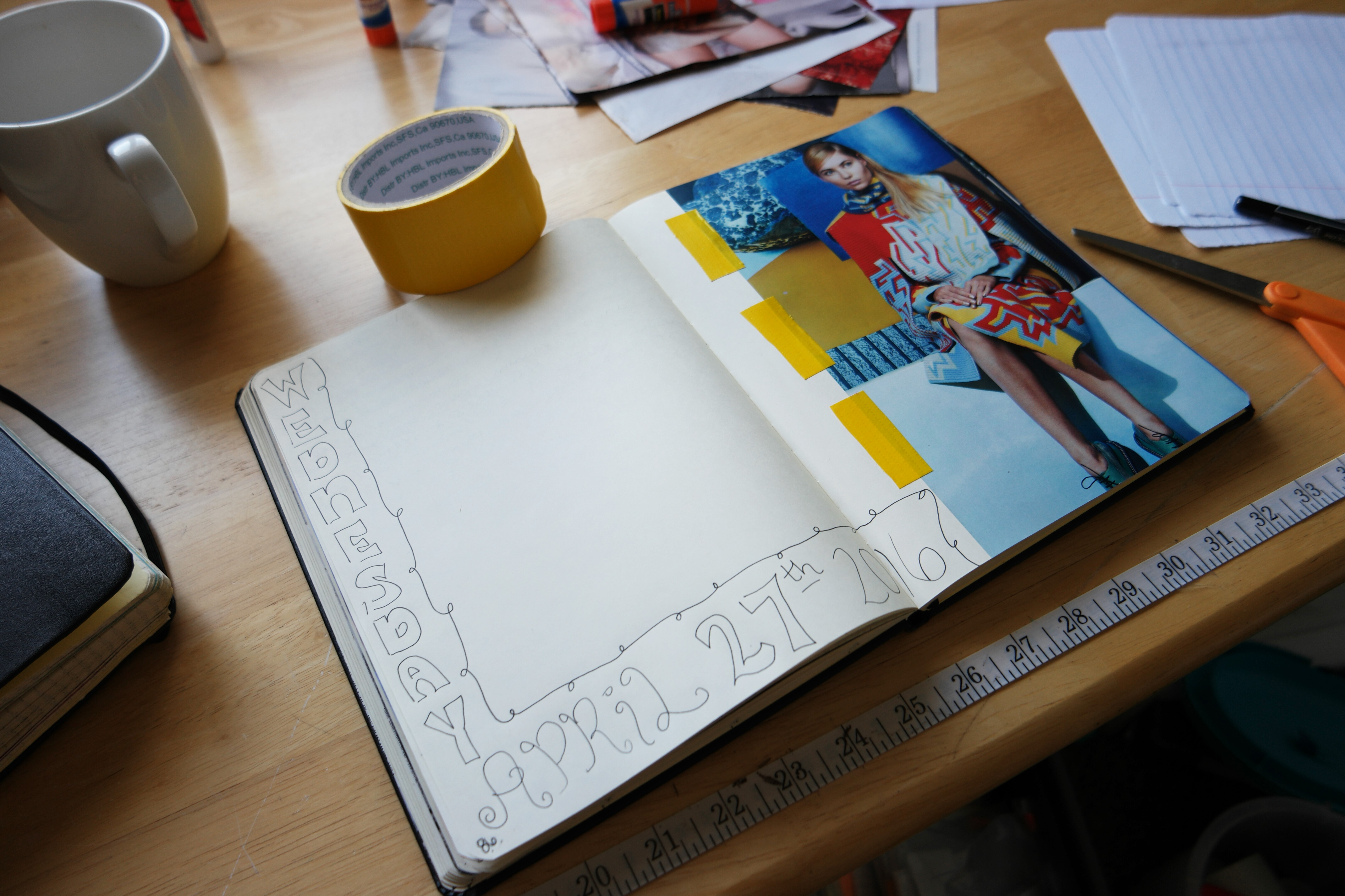 art journaling in my creative notebook